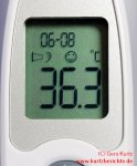 beurer Fieberthermometer FT58 14 Display mit Messergebnis