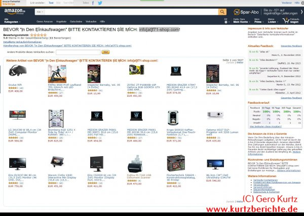 Gehackter Shop bei Amazon