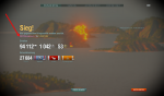 World of Warships pink Siegbildschirm