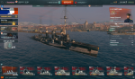World of Warships pink im Hafen