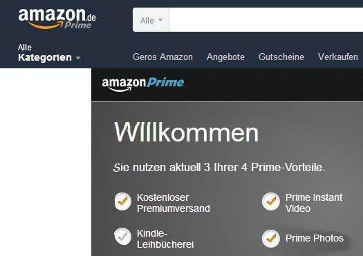 Amazon Prime Mitgliedschaft Kosten