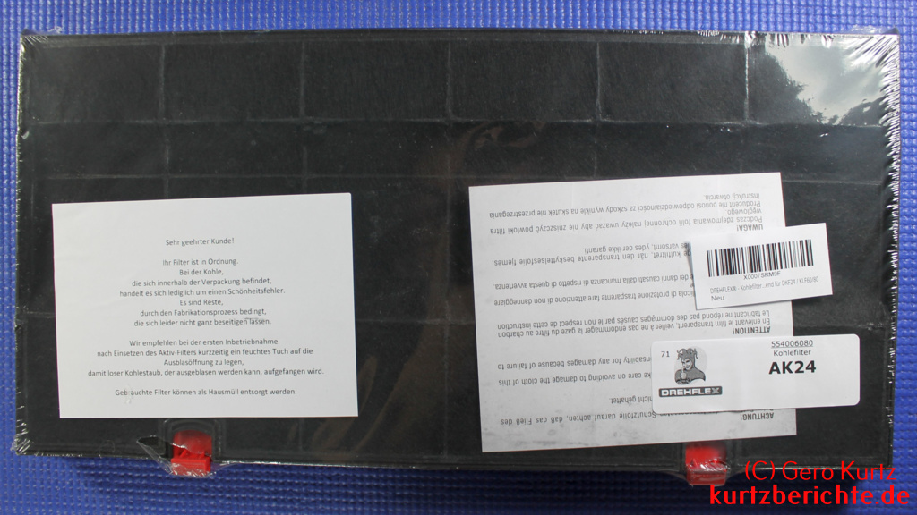 Erfahrungsbericht drehflex kohlefilter aktivkohlefilter für
