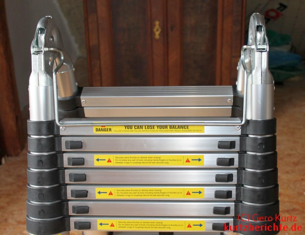 Erfahrungsbericht homdox klappleiter anlegeleiter teleskopleiter