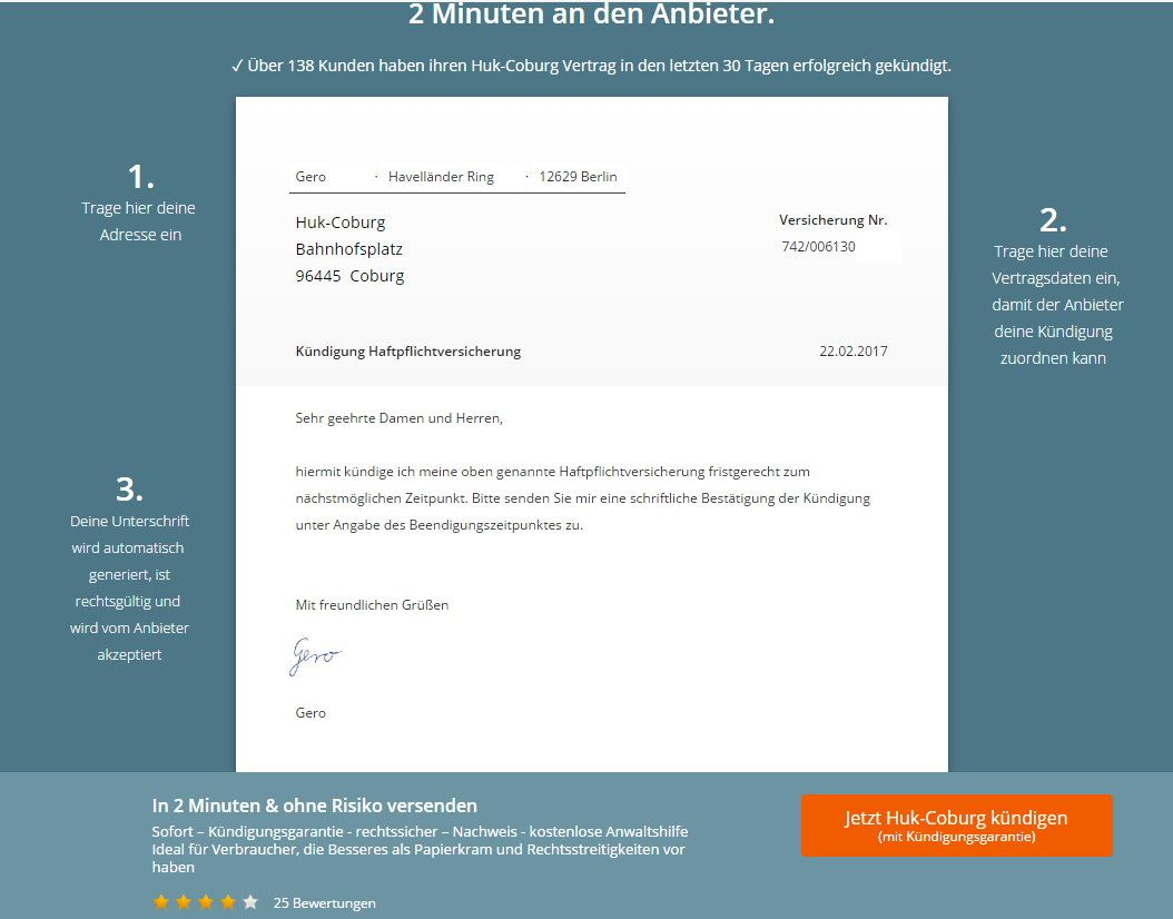 Verträge kündigen mit der Webseite aboalarm - ein Erfahrungsbericht