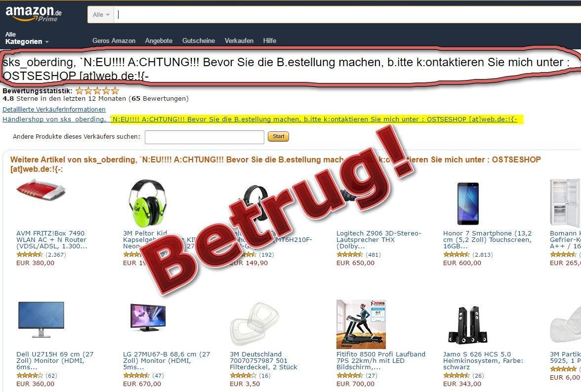 Vorsicht Vor Betrügern Bei Amazon Marketplace Fake Shops